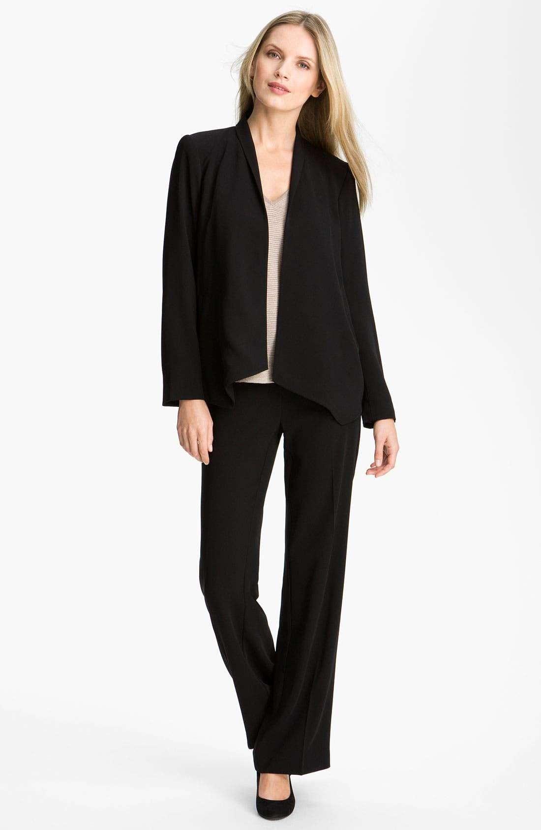 Alternate Image 2  - Eileen Fisher Open Front Tropical Weight Jacket