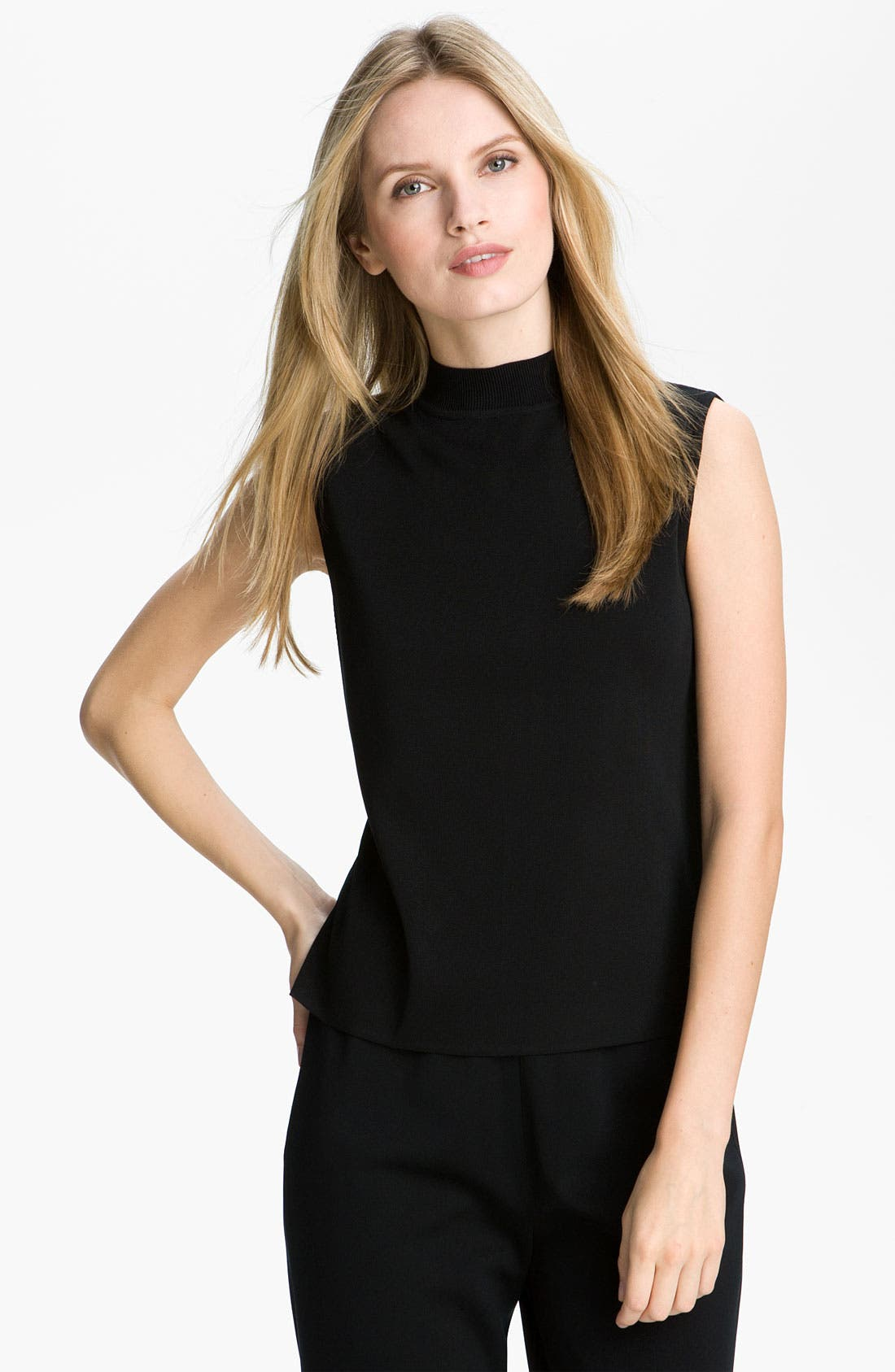 Ming Wang Mock Neck Shell