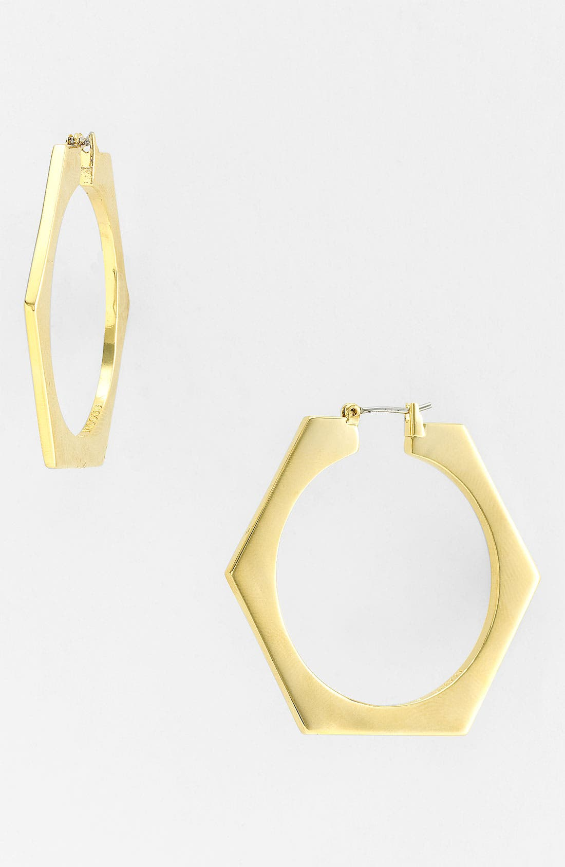 Alternate Image 1 Selected - MARC BY MARC JACOBS 'Bolts - Slice' Large Geometric Hoop Earrings
