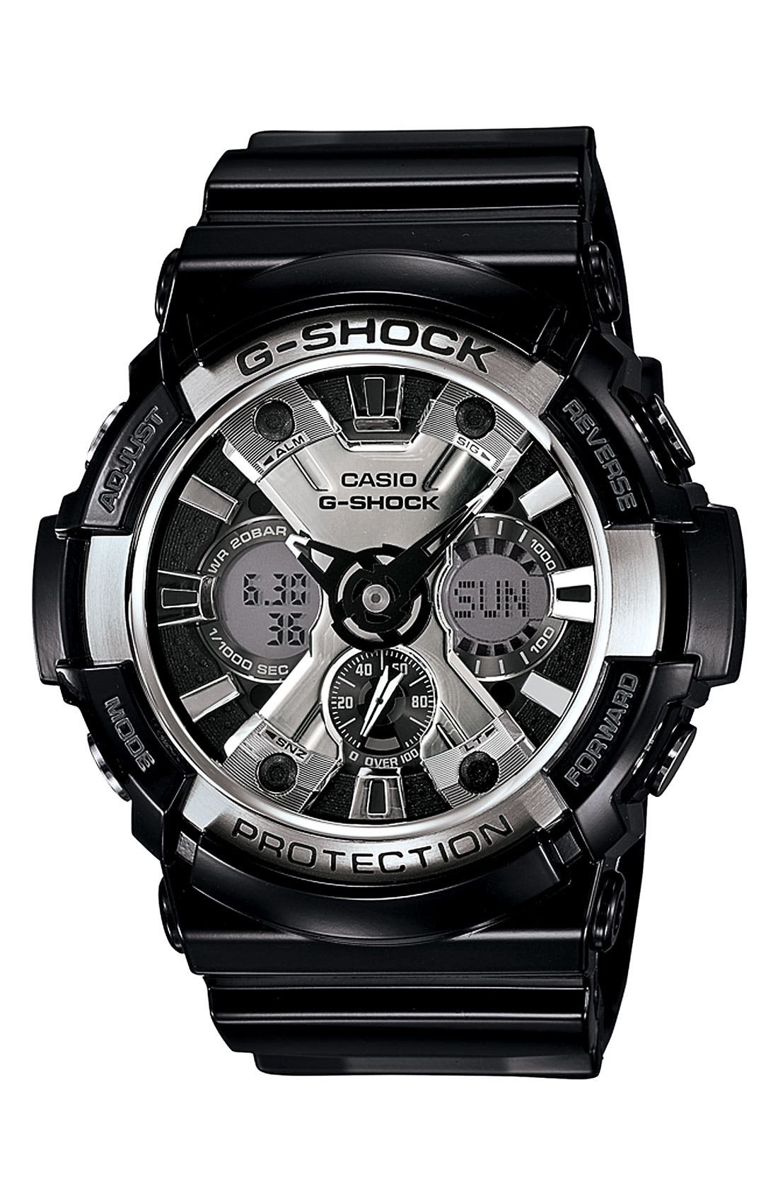 Main Image - G-Shock 'X-Large' Dual Movement Watch, 55mm