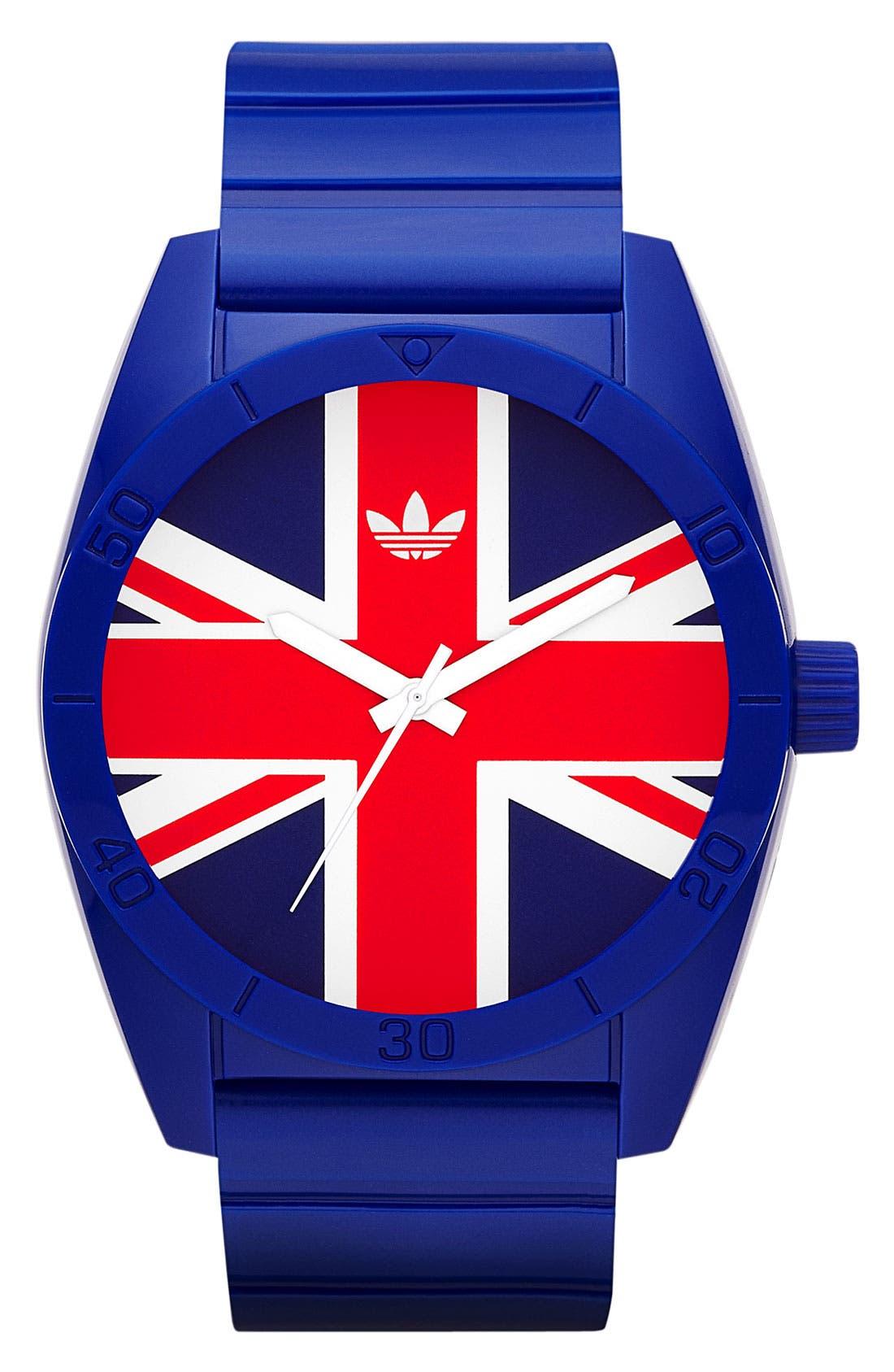 Main Image - adidas Originals 'Santiago - Exclusive Union Jack' Watch
