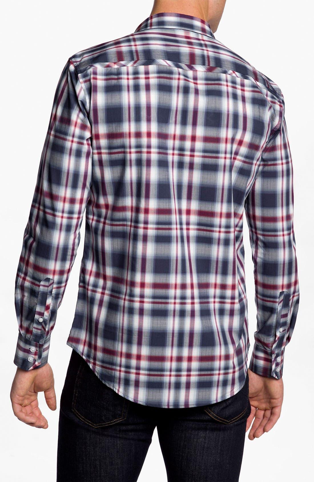 Alternate Image 3  - 7 Diamonds 'Everyday Shelter' Plaid Trim Fit Cotton Sport Shirt