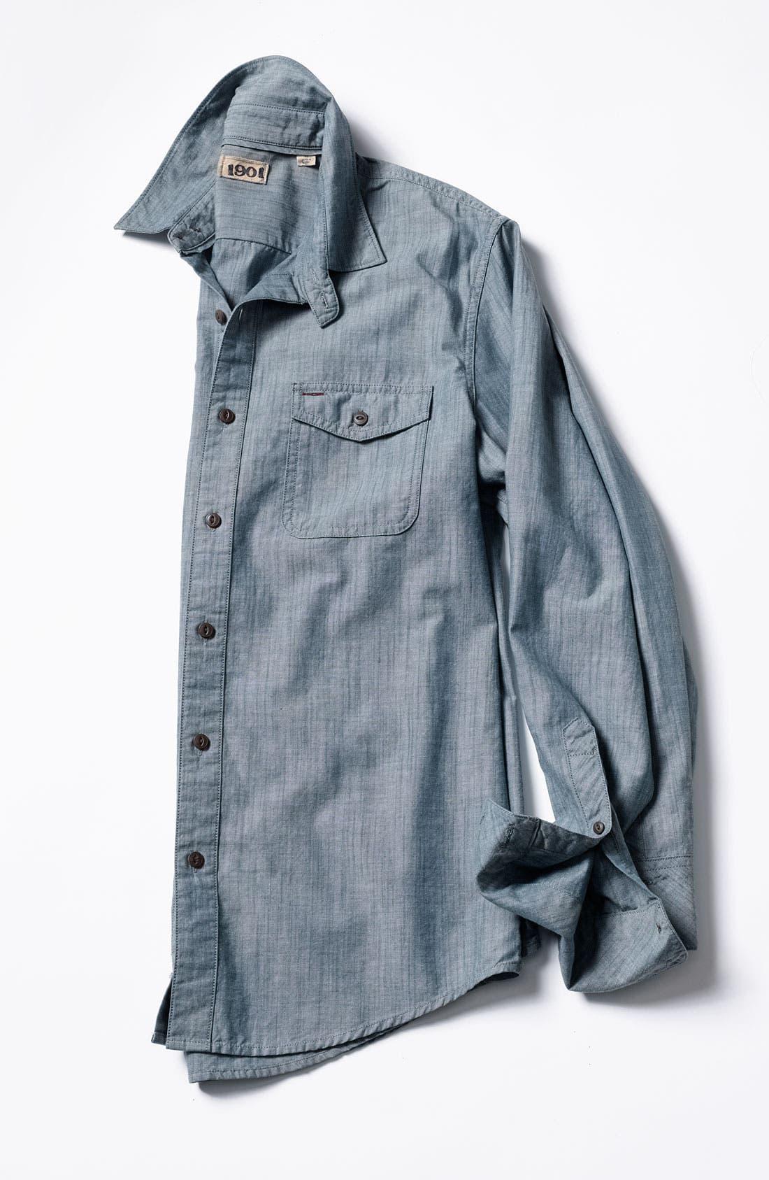 Alternate Image 4  - 1901 Slub Chambray Shirt