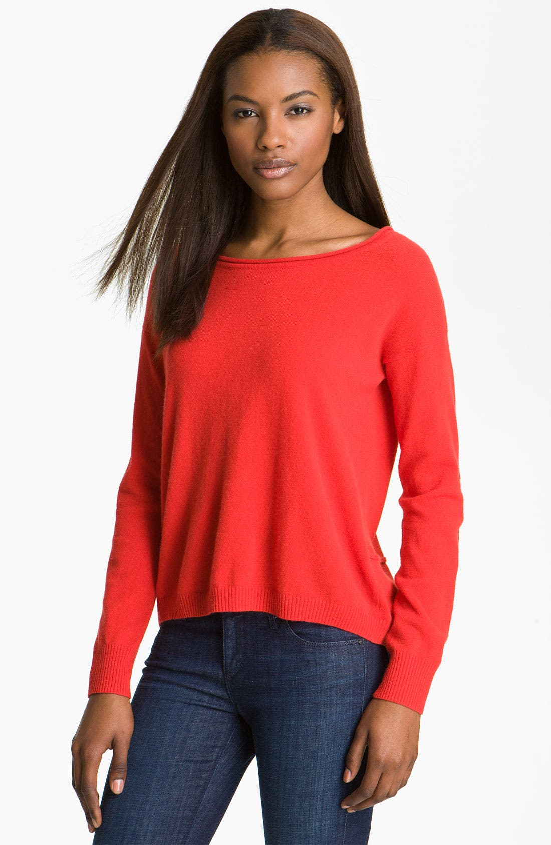 Alternate Image 1 Selected - autumn cashmere Cashmere Crop Sweater