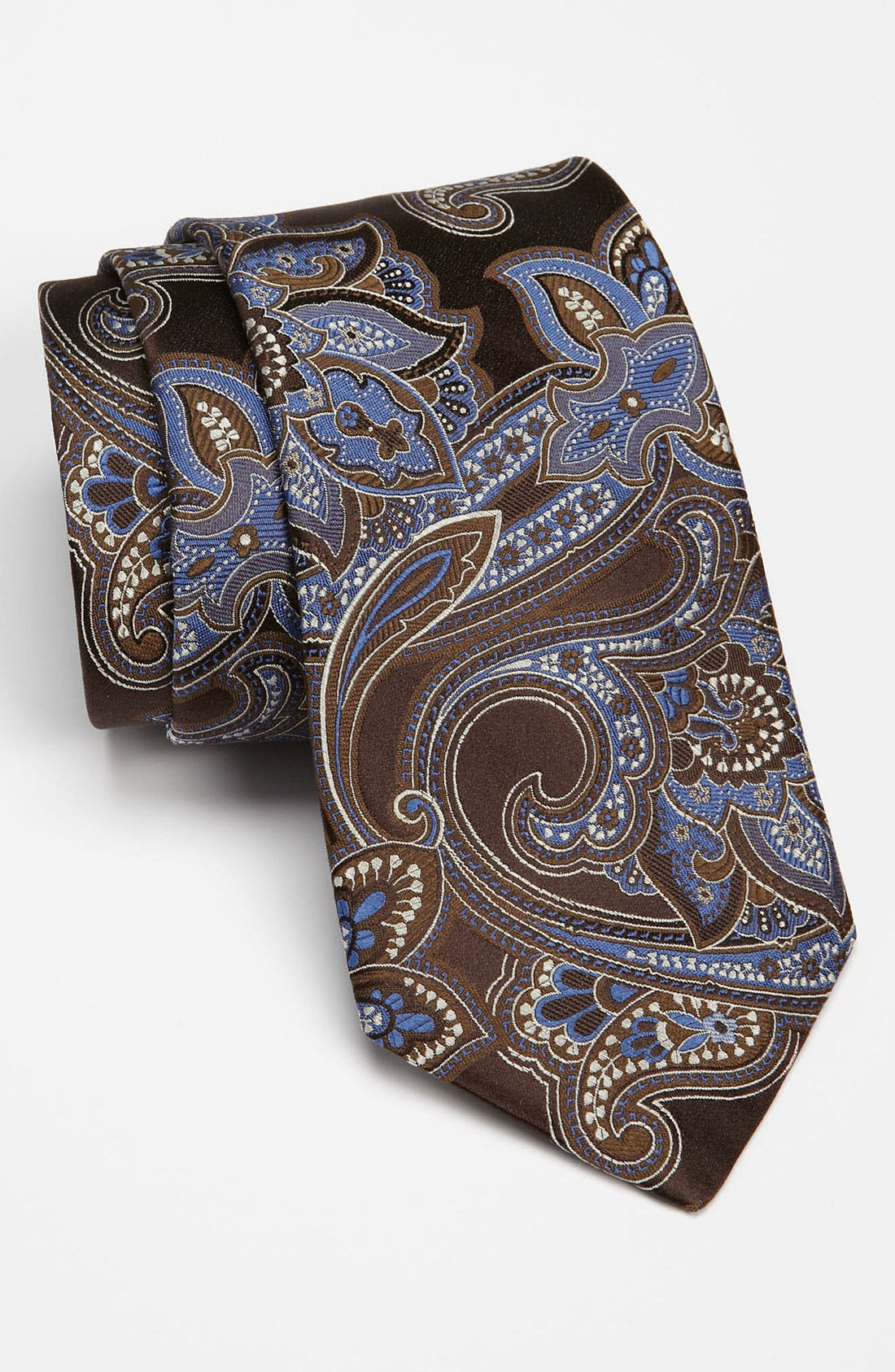 John W. Nordstrom<sup>®</sup> Dress Shirt & Nordstrom Tie,                         Main,                         color, Brown