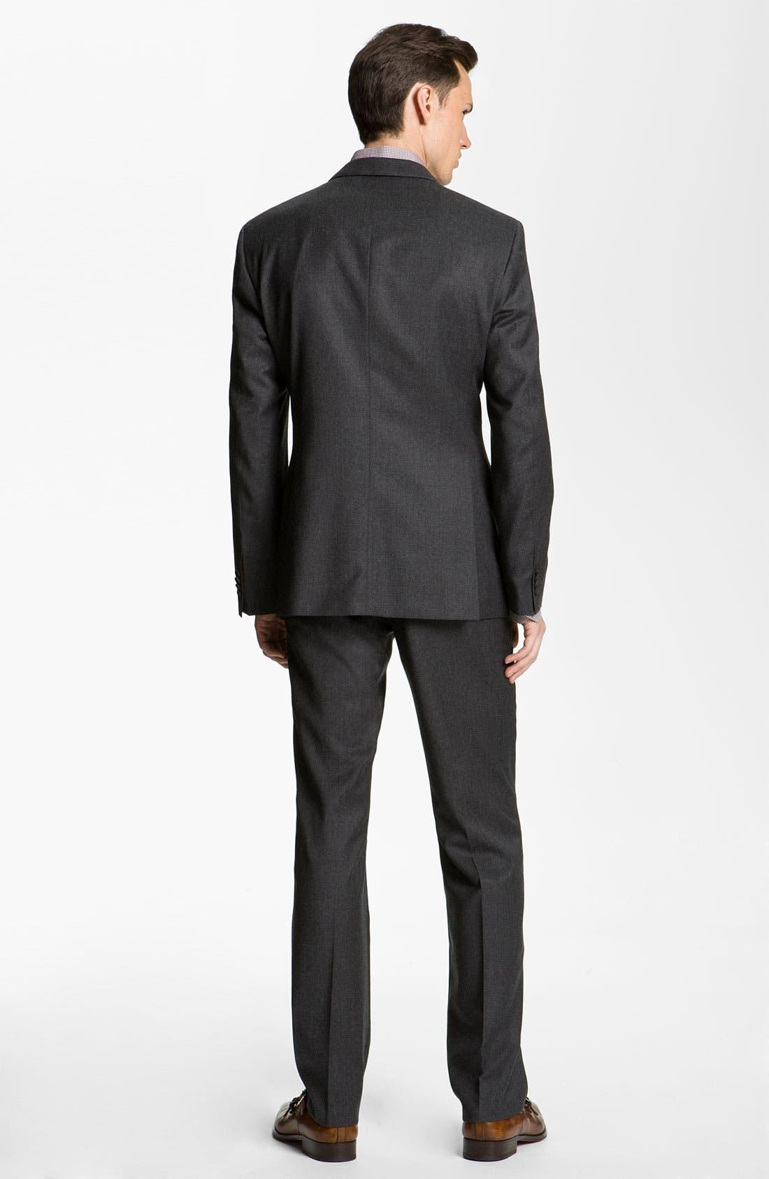 Alternate Image 3  - BOSS Black 'Key/Shaft' Trim Fit Suit