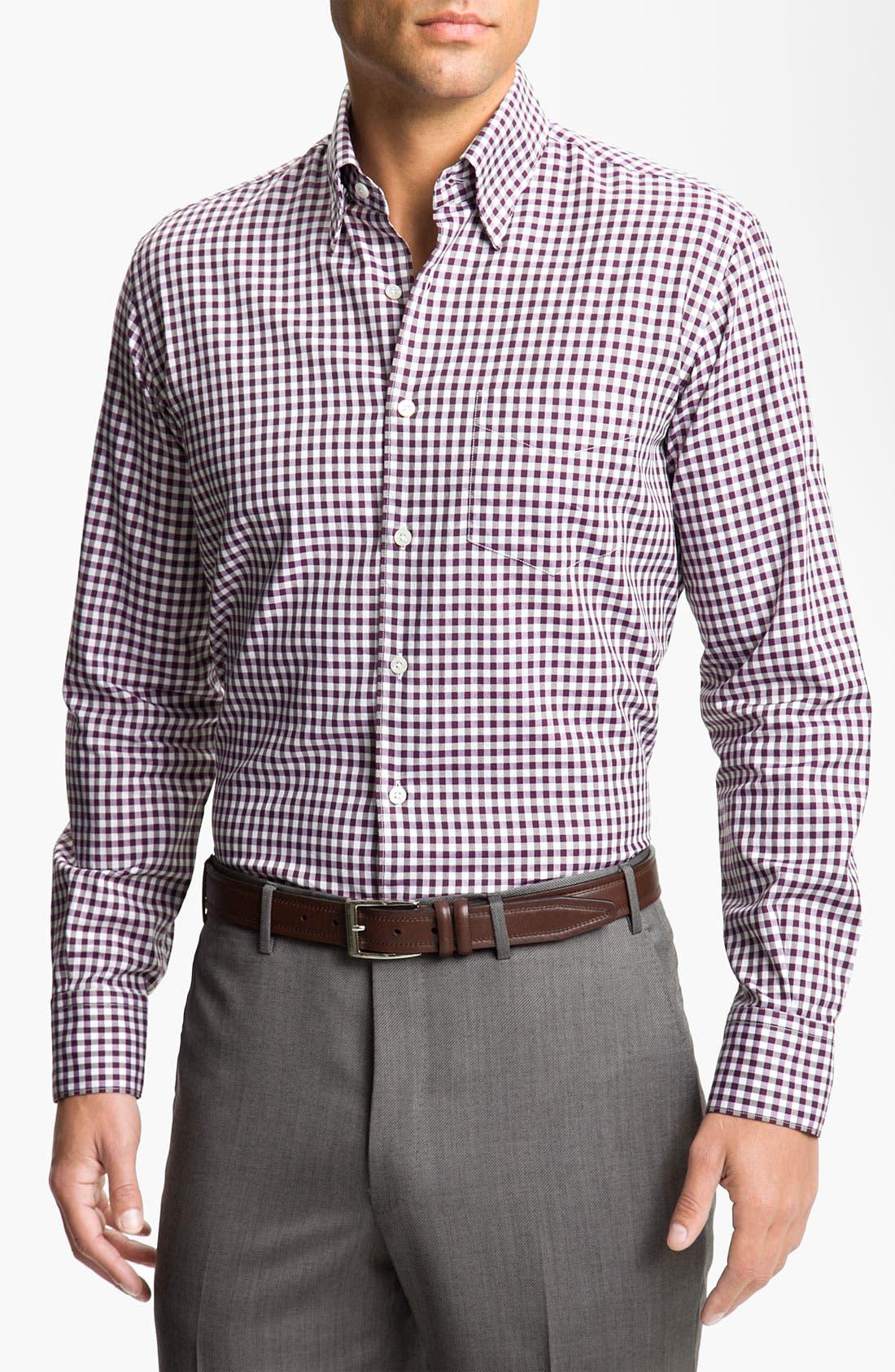 Main Image - Canali Regular Fit Woven Shirt