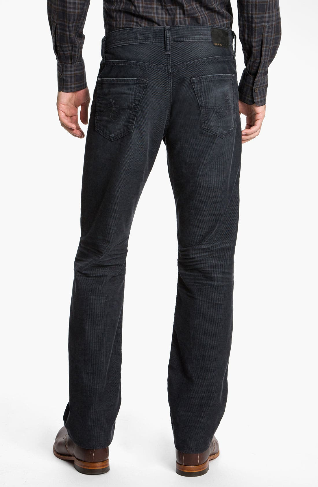 Alternate Image 2  - AG Jeans Straight Leg Corduroy Pants