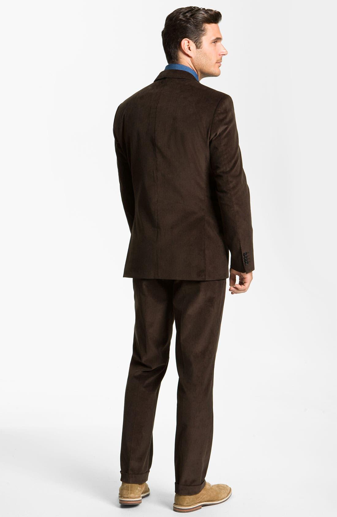 Alternate Image 3  - BOSS Black 'James/Sharp' Trim Fit Corduroy Suit