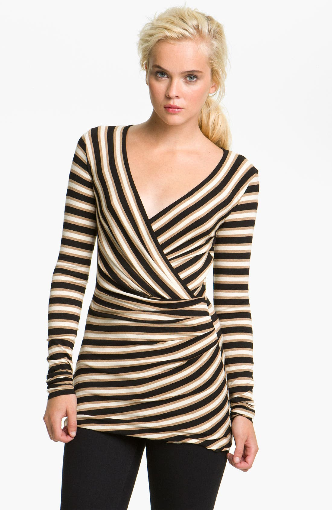 Alternate Image 1 Selected - Bailey 44 'Princeton' Stripe Surplice Top
