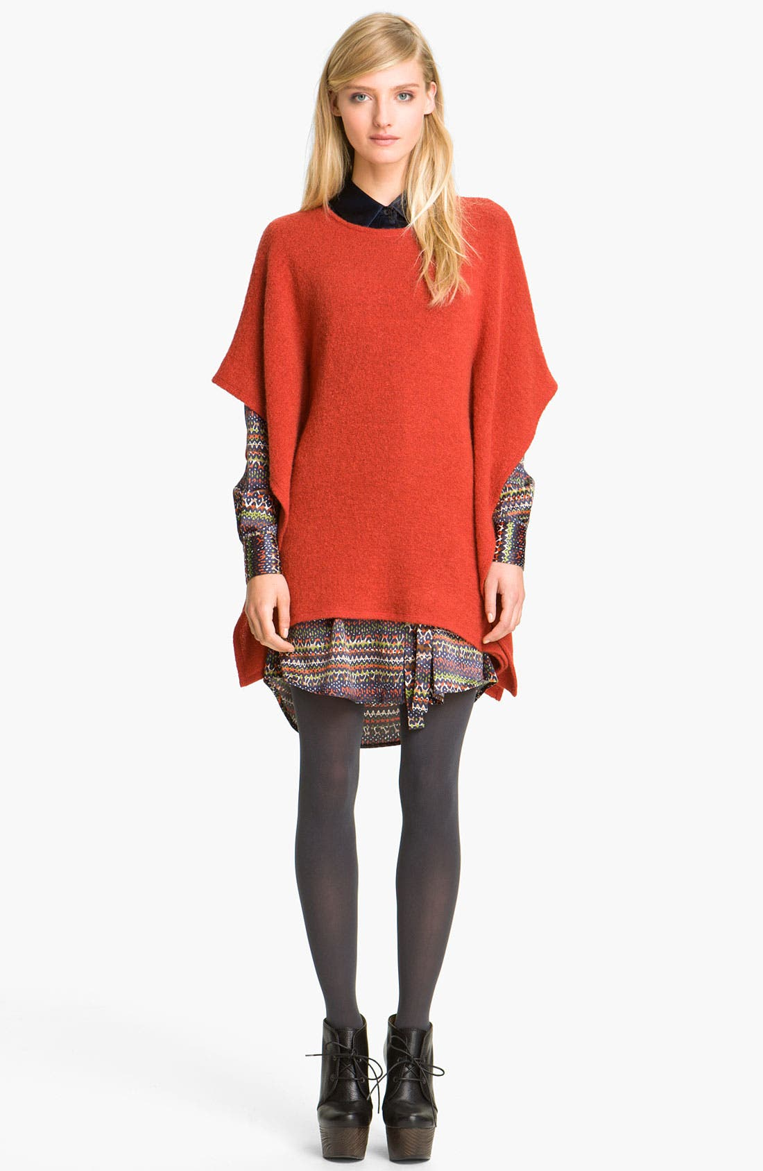 Alternate Image 1 Selected - Thakoon Addition Ruffle Side Knit Top