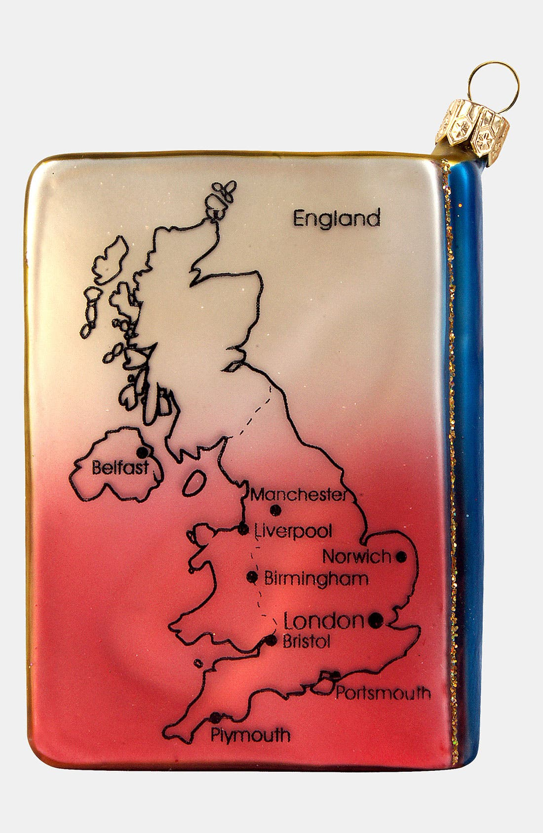 Alternate Image 3  - Nordstrom at Home 'England Travel Guide' Glass Ornament