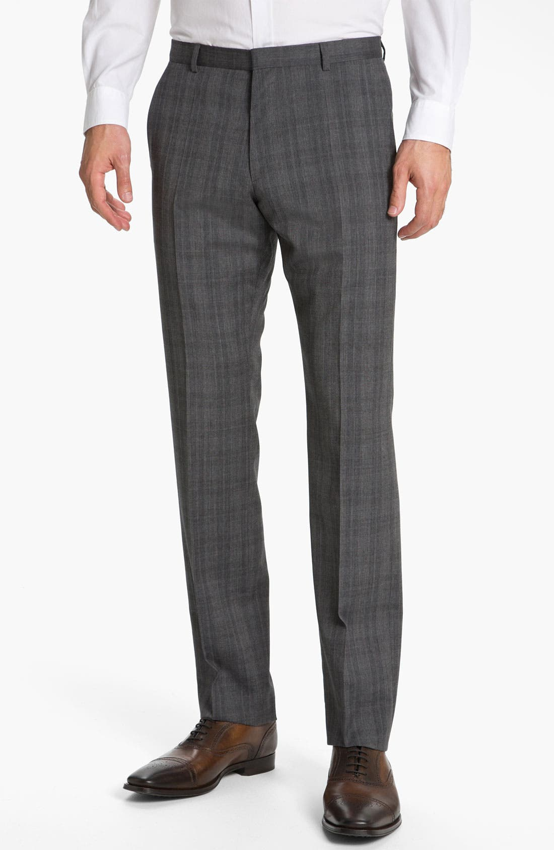 Main Image - HUGO 'Heise' Flat Front Wool Trousers