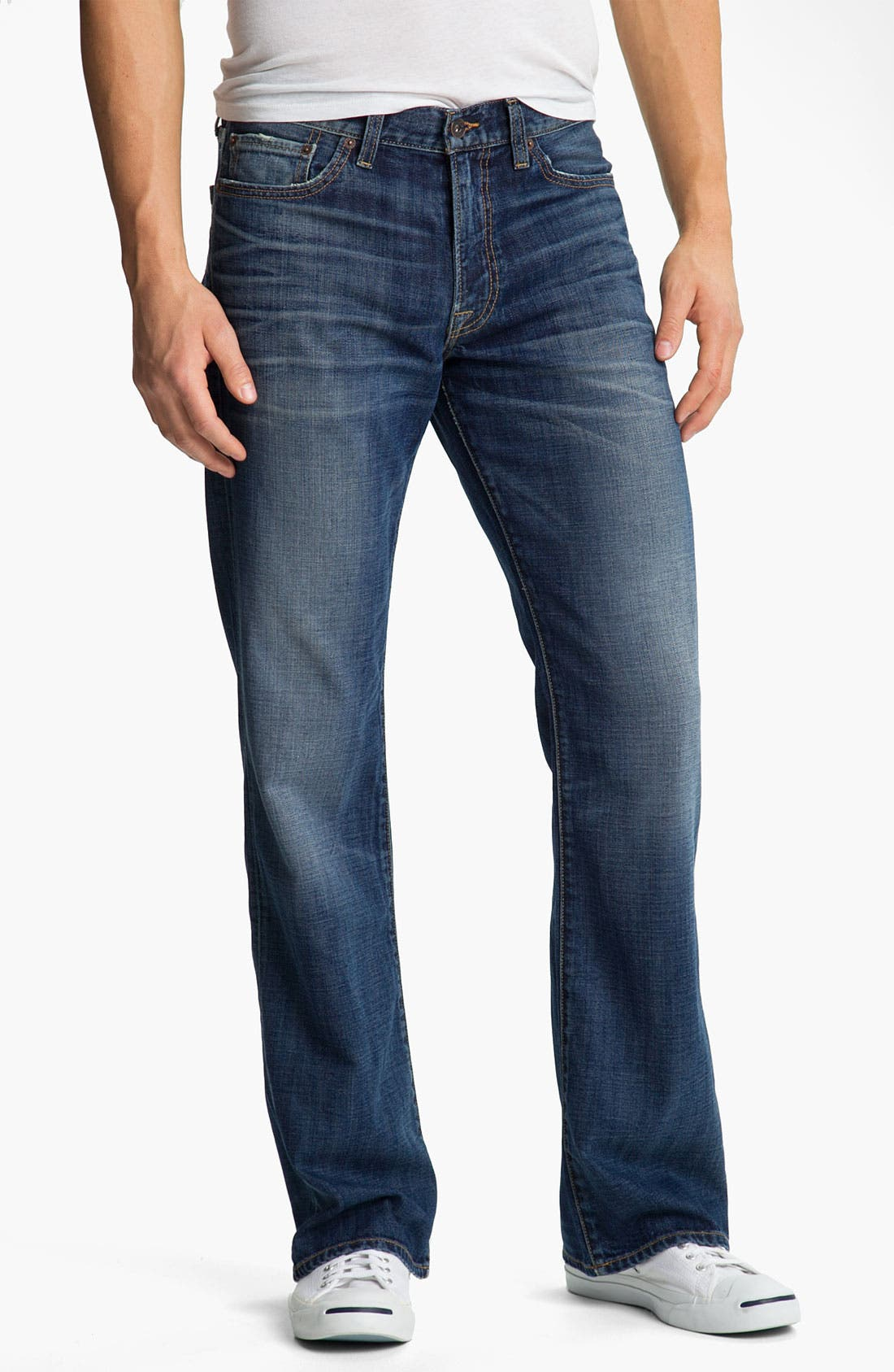 Alternate Image 1 Selected - Lucky Brand Bootcut Jeans (Medium Edwin Warner)