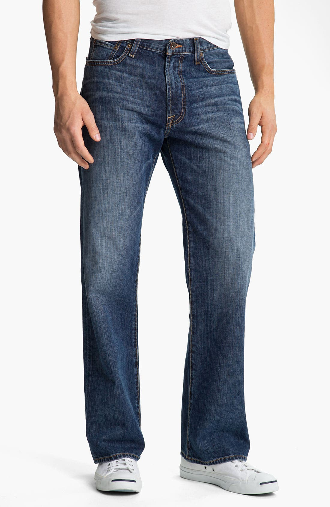 Alternate Image 1 Selected - Lucky Brand '181' Relaxed Straight Leg Jeans (Medium Clarksville)