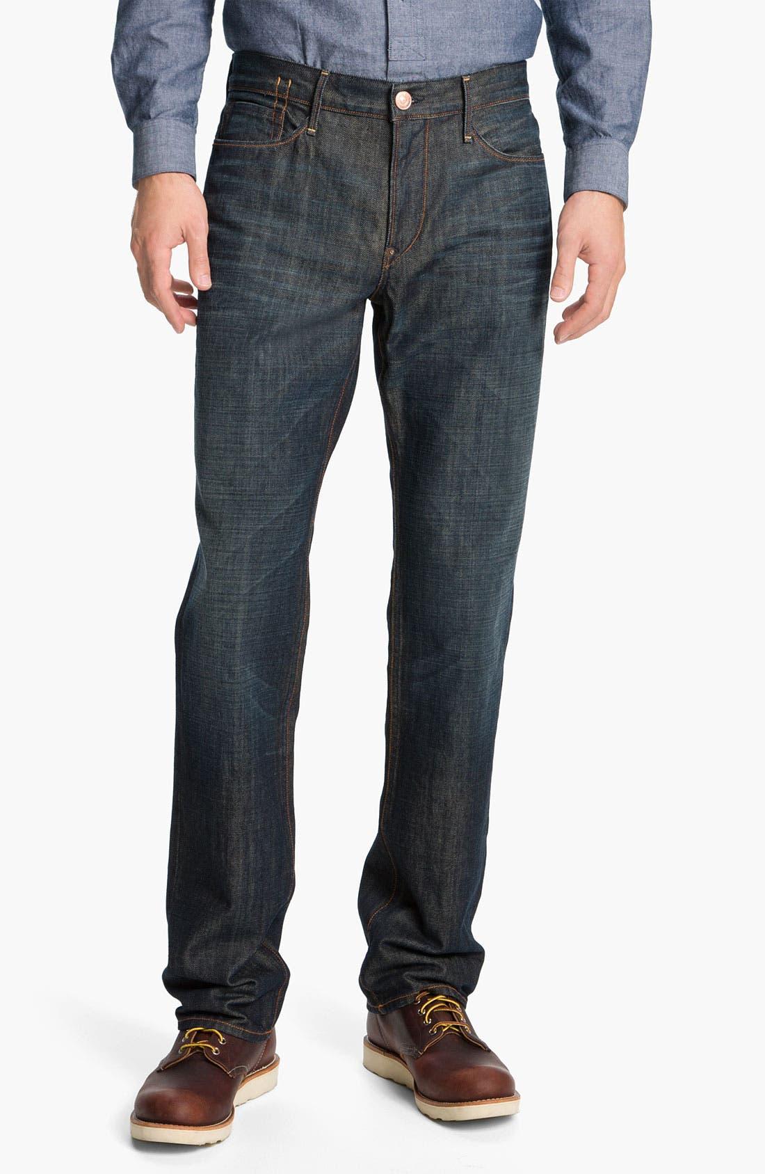 Alternate Image 1 Selected - Earnest Sewn 'Dexter' Relaxed Straight Leg Jeans (Maz Dark)