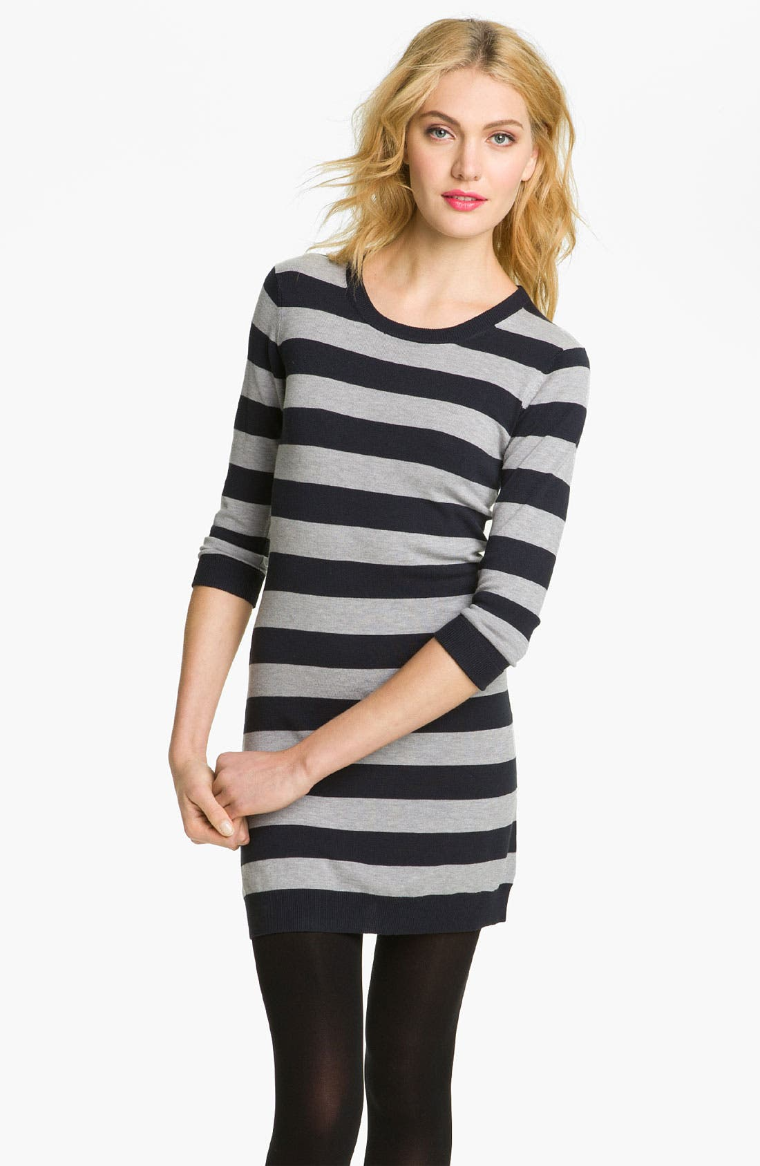 Alternate Image 1 Selected - French Connection 'Bambi Knits' Stripe Sweater Dress