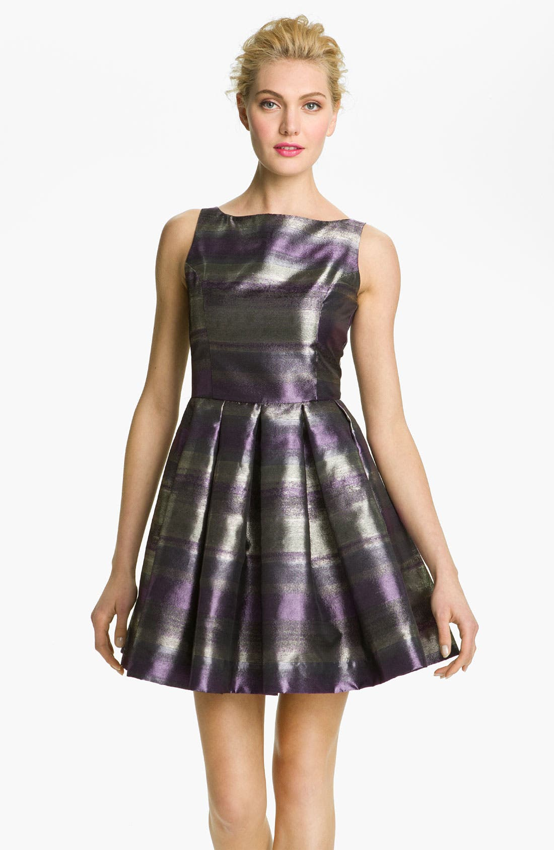 Main Image - BB Dakota 'Jensine' Metallic Taffeta Fit & Flare Dress