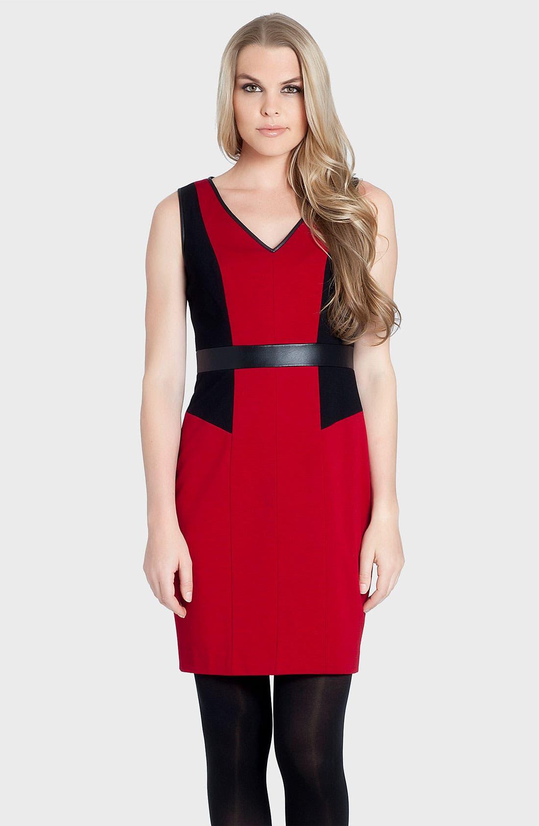 Main Image - Cynthia Steffe 'Alana' V-Neck Colorblock Sheath Dress