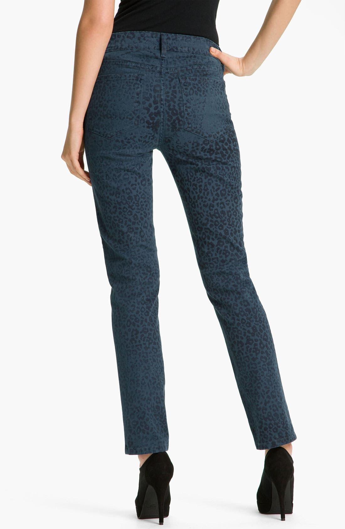 Alternate Image 2  - NYDJ 'Sheri - Cheetah' Print Skinny Twill Jeans