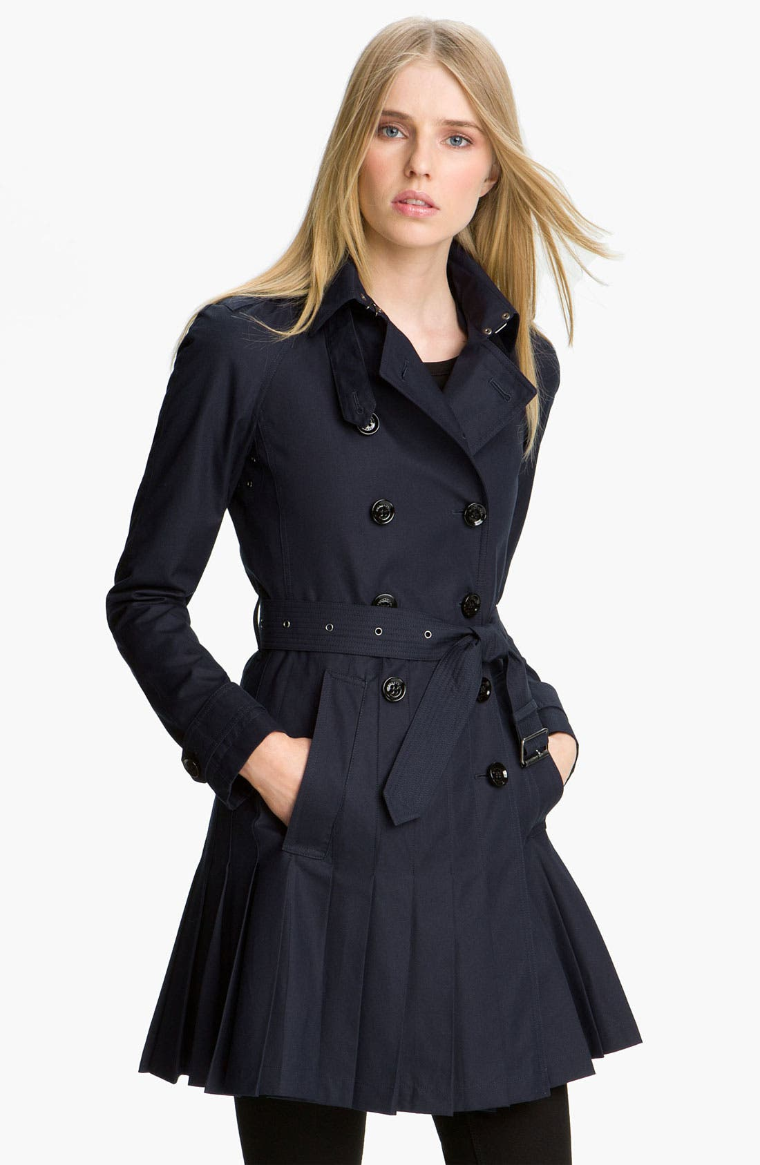 Double Breasted Trench Coat,                         Main,                         color, True Navy