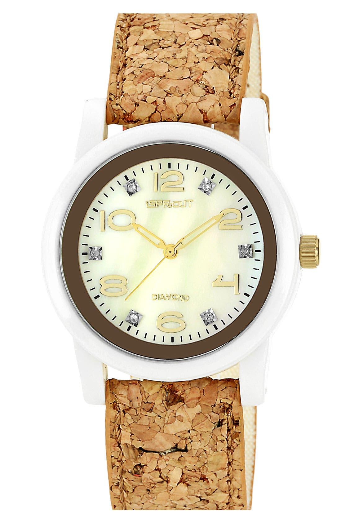 Main Image - SPROUT™ Watches Cork Strap Watch, 38mm
