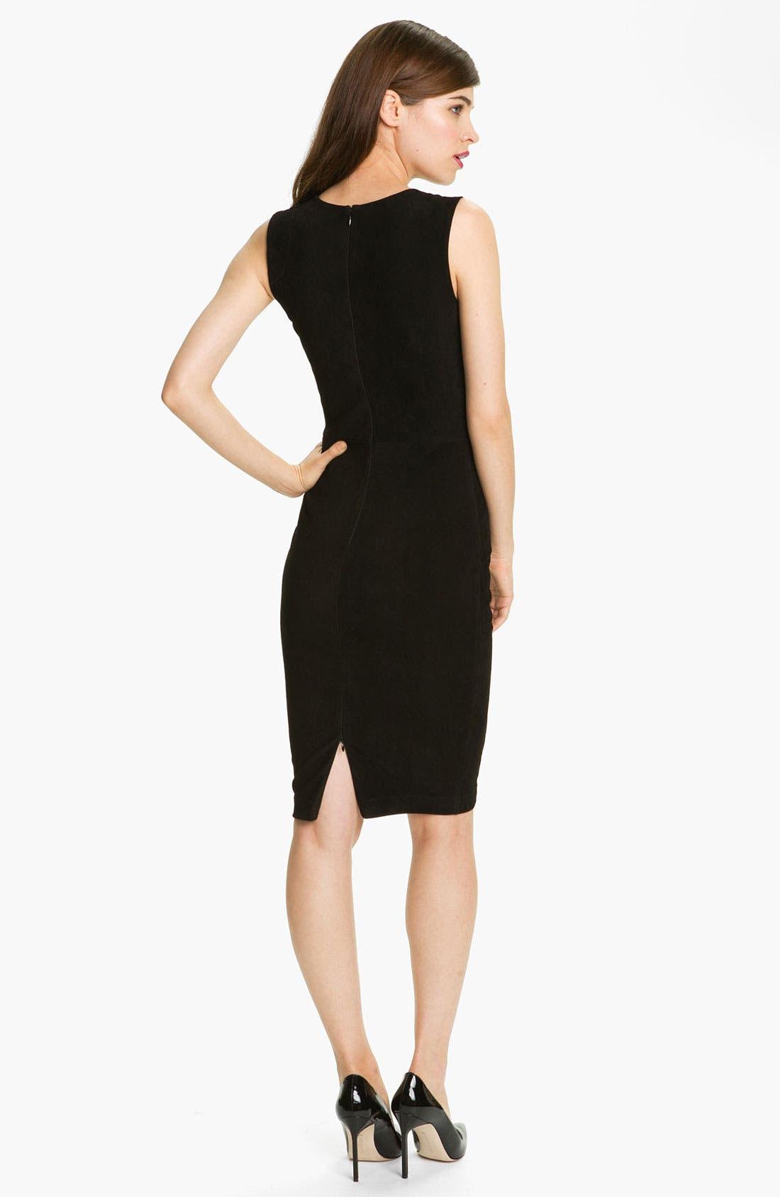 Alternate Image 2  - Robert Rodriguez Leather & Suede Sheath Dress