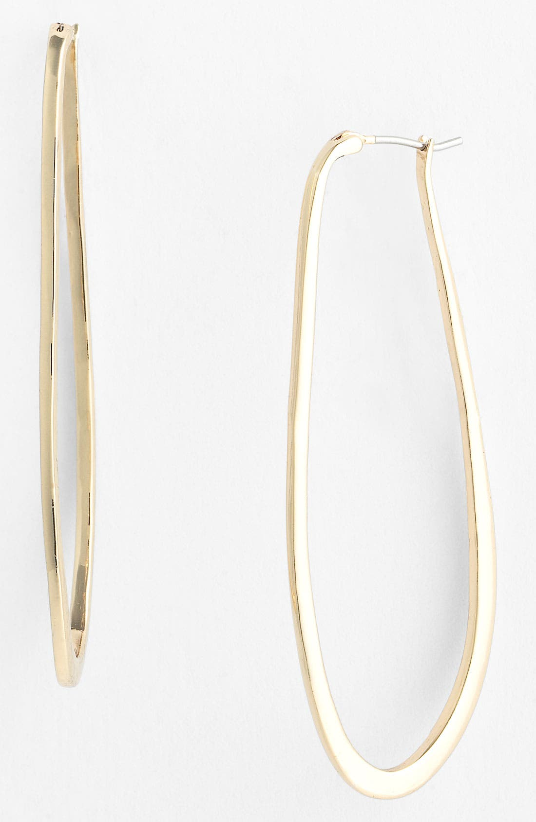 Alternate Image 1 Selected - Vince Camuto 'Basics' Elongated Hoop Earrings