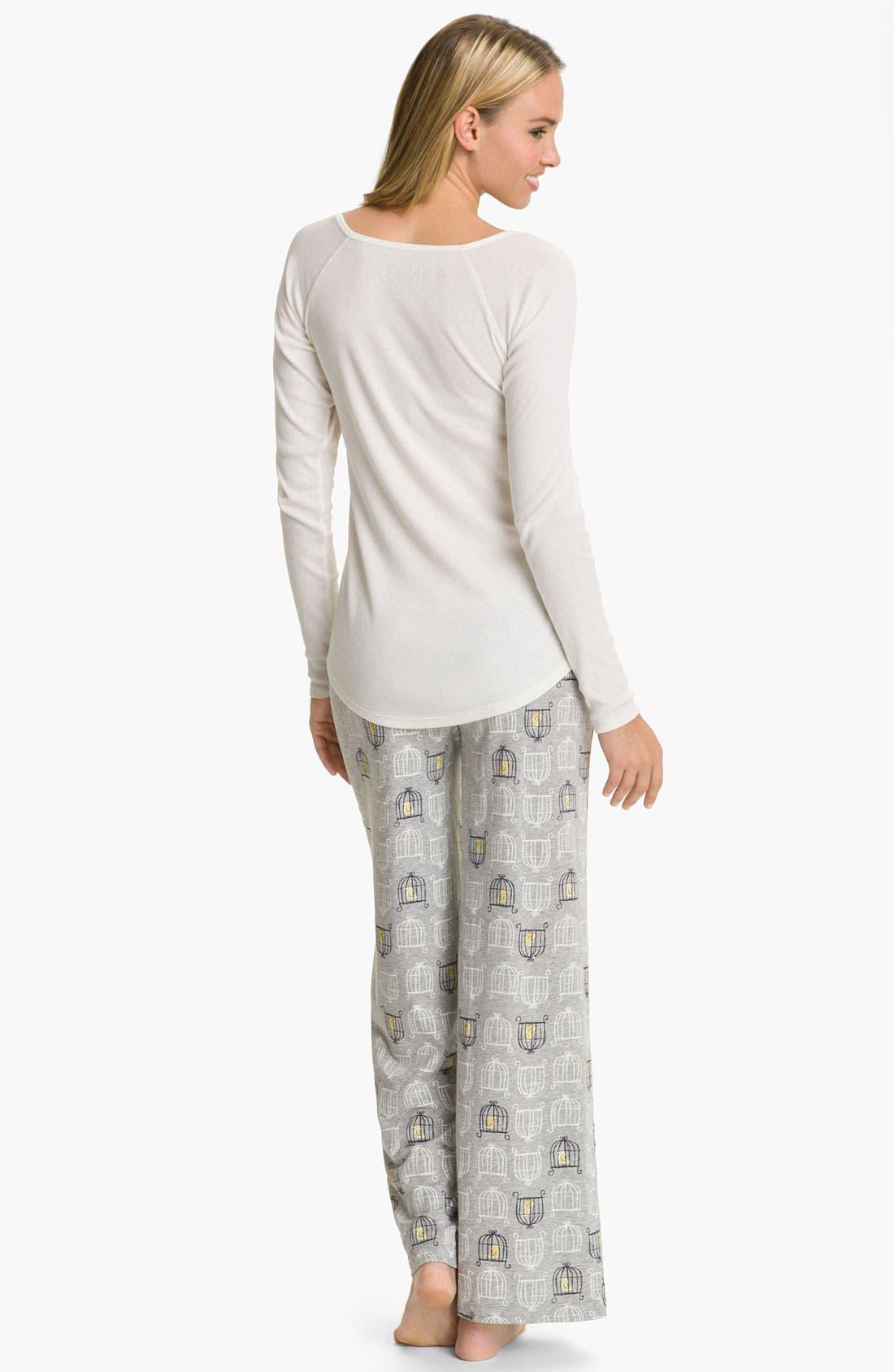 Alternate Image 5  - Hue 'Birdcage' Pajama Pants