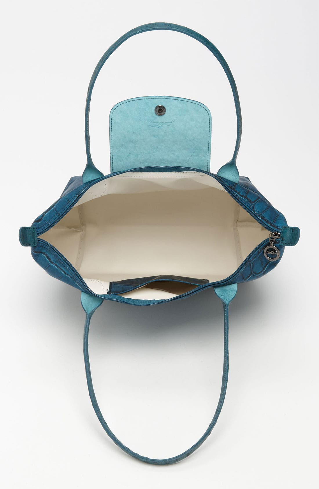 Alternate Image 3  - Longchamp 'Le Pliage Croco' Small Shoulder Tote