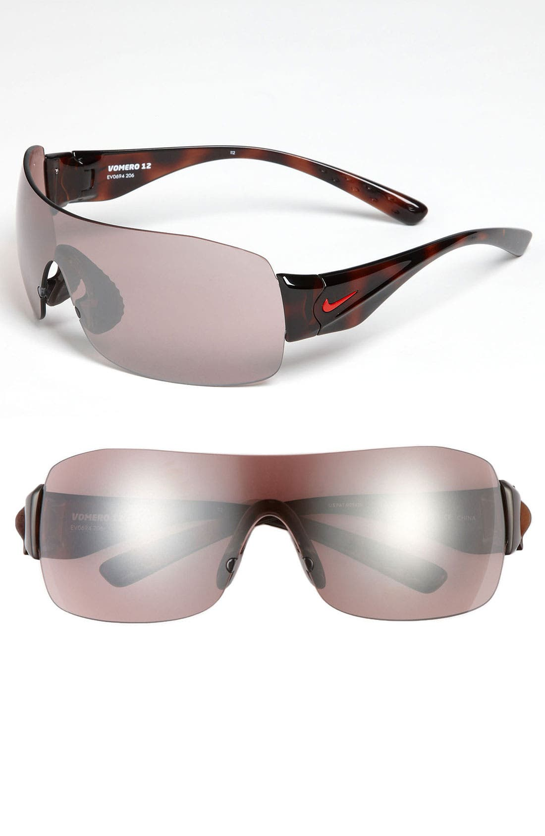 Alternate Image 1 Selected - Nike 'Vomero 12' Rimless Shield Sunglasses