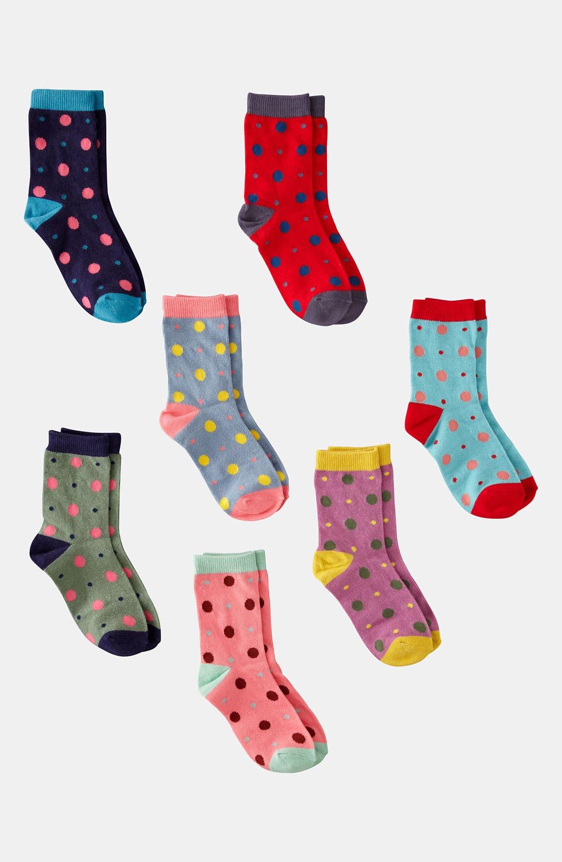 Alternate Image 1 Selected - Mini Boden Socks (7-Pack) (Girls)