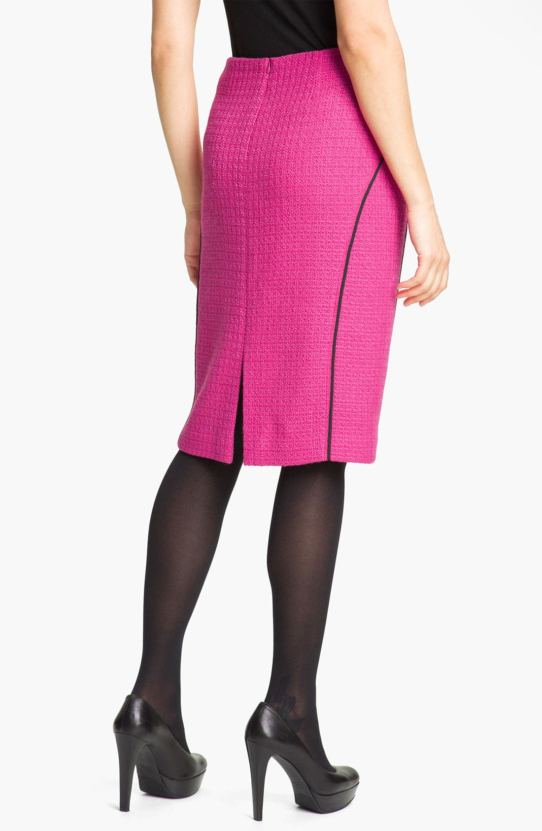 'Lilith Abbey Tweed' Skirt,                             Alternate thumbnail 2, color,                             Cerise