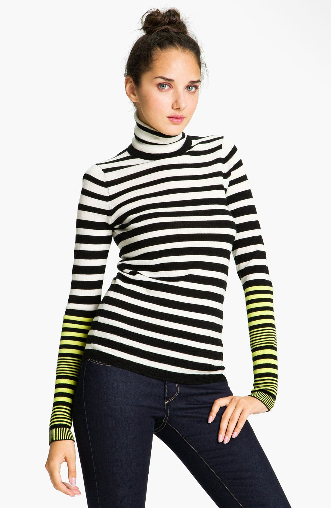 Main Image - Juicy Couture Stripe Turtleneck