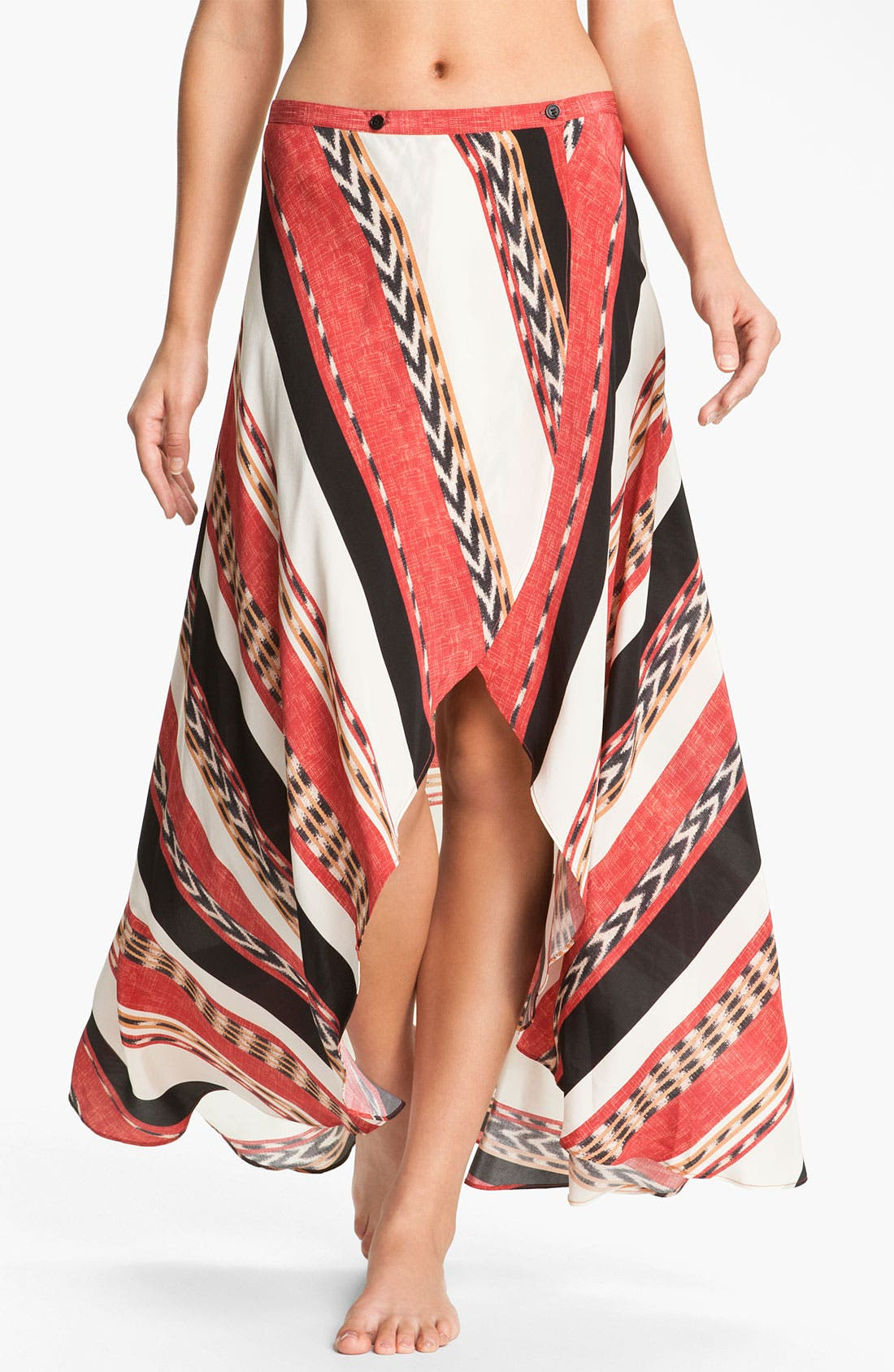 Alternate Image 1 Selected - ViX Swimwear 'Angola June' Silk Cover-Up Skirt