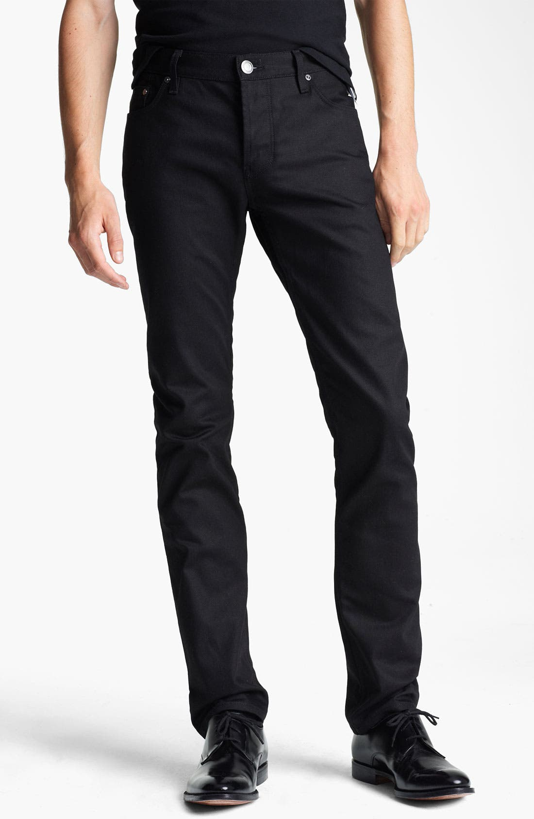 Main Image - Burberry London Steadman Fit Straight Leg Jeans (Black Wash)