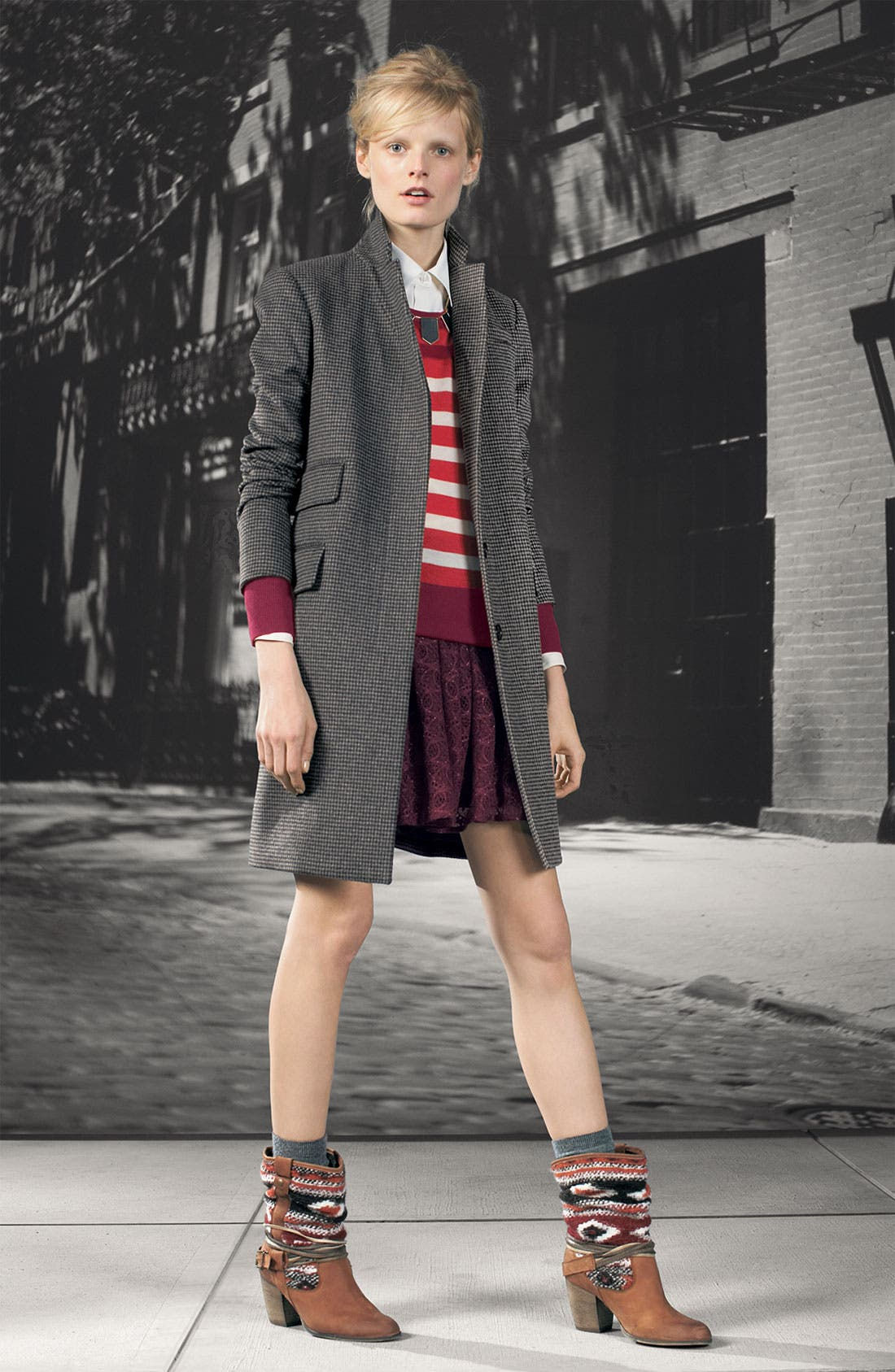 Alternate Image 4  - MARC BY MARC JACOBS 'Serge' Plaid Tweed Coat