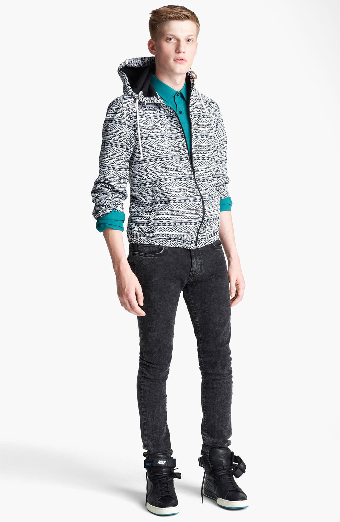 Alternate Image 4  - Topman All Over Print Hooded Jacket