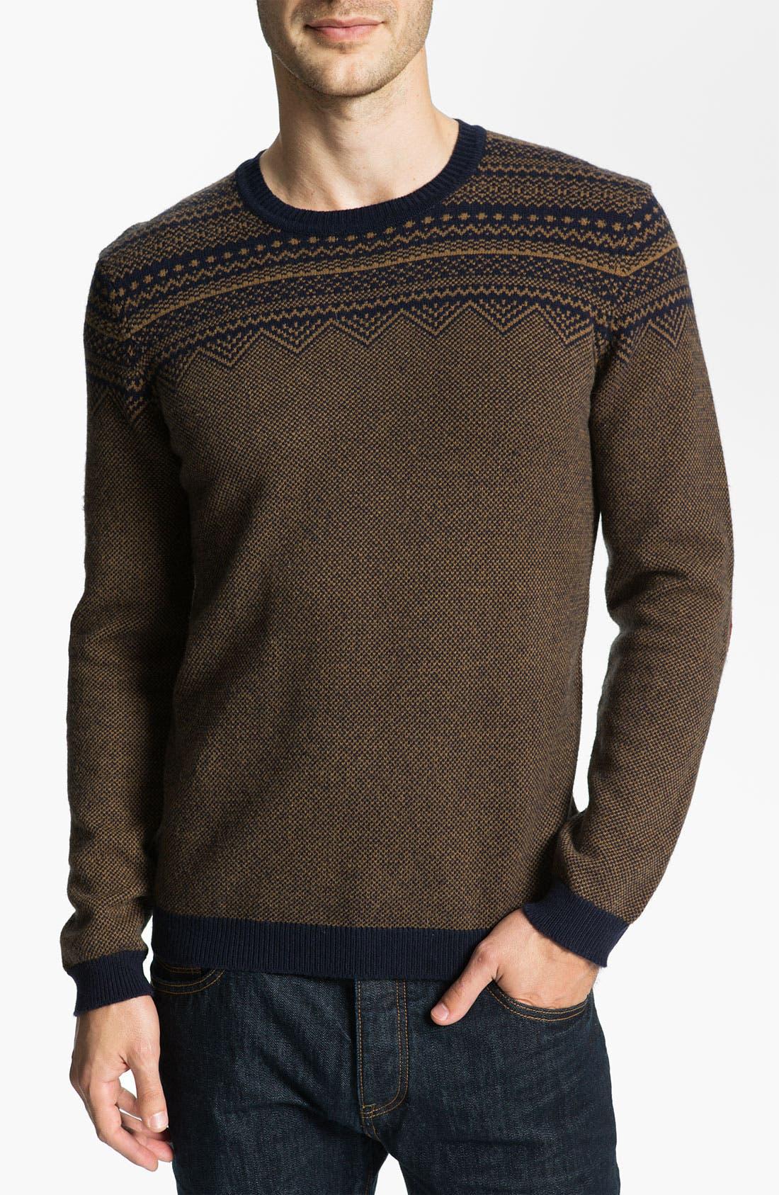 Main Image - Ted Baker London 'Micemen' Fair Isle Crewneck Sweater