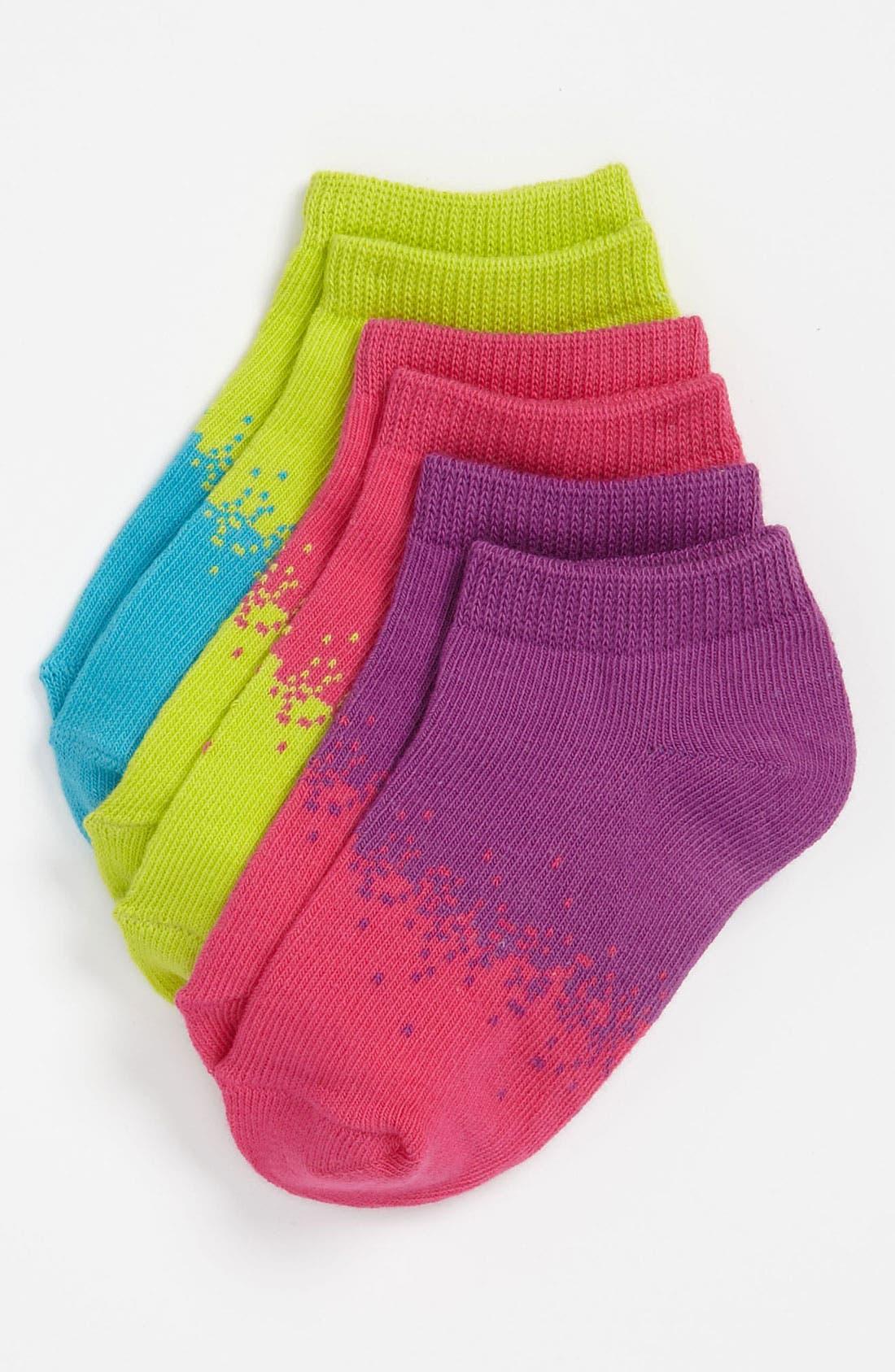 Alternate Image 1 Selected - Nordstrom Socks (3-Pack) (Toddler, Little Girls & Big Girls)