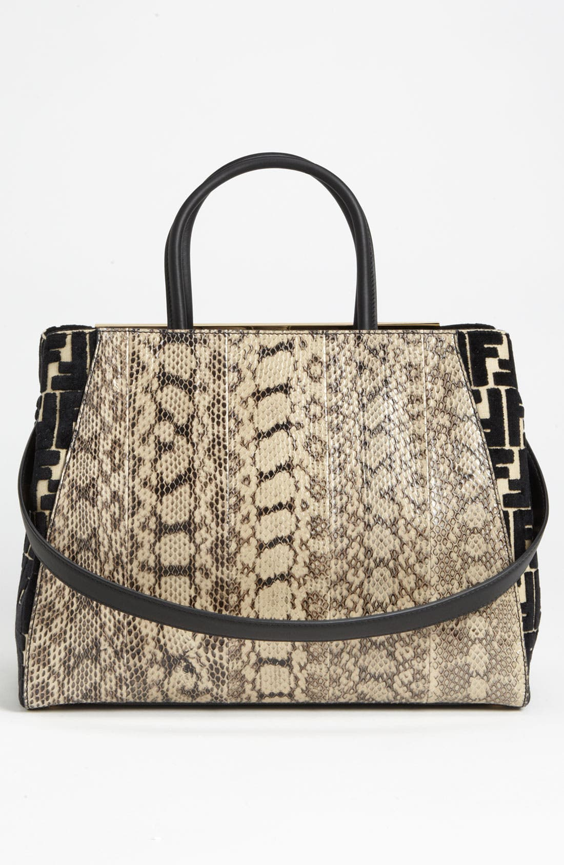 Alternate Image 4  - Fendi '2Jours' Genuine Snakeskin Shopper