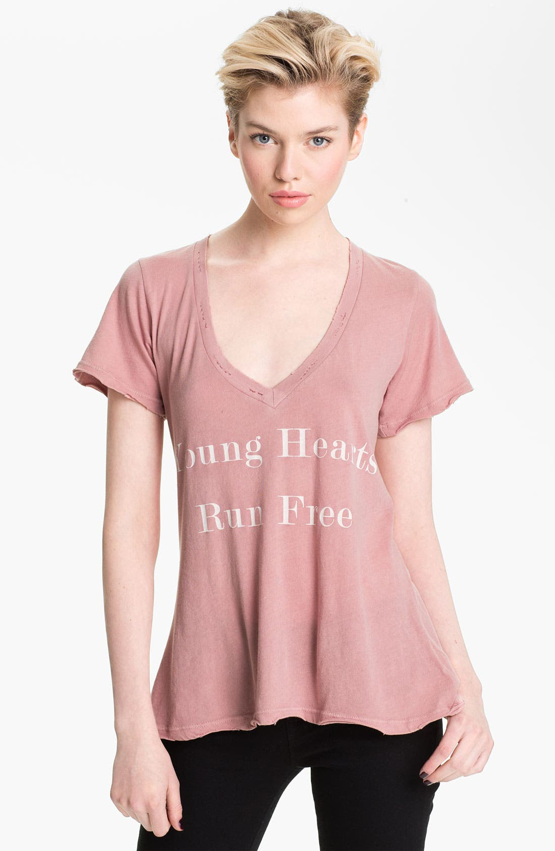 Alternate Image 1 Selected - Wildfox 'Run Free' Deep V-Neck Tee