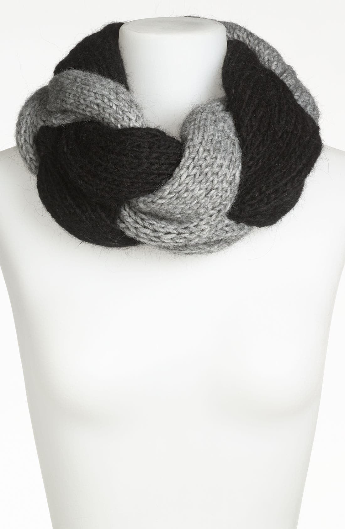 Main Image - Trouvé Braided Infinity Scarf