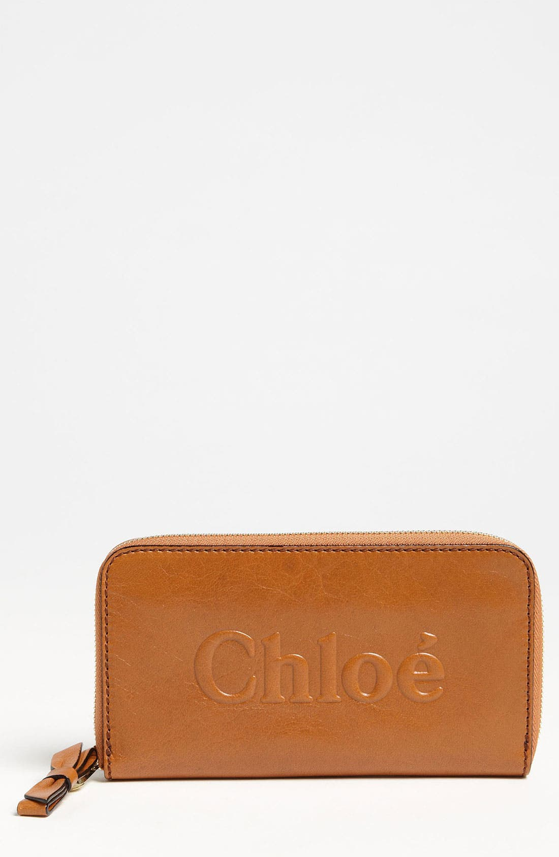 Main Image - Chloé 'Shadow - Long' Zip Around Leather Wallet