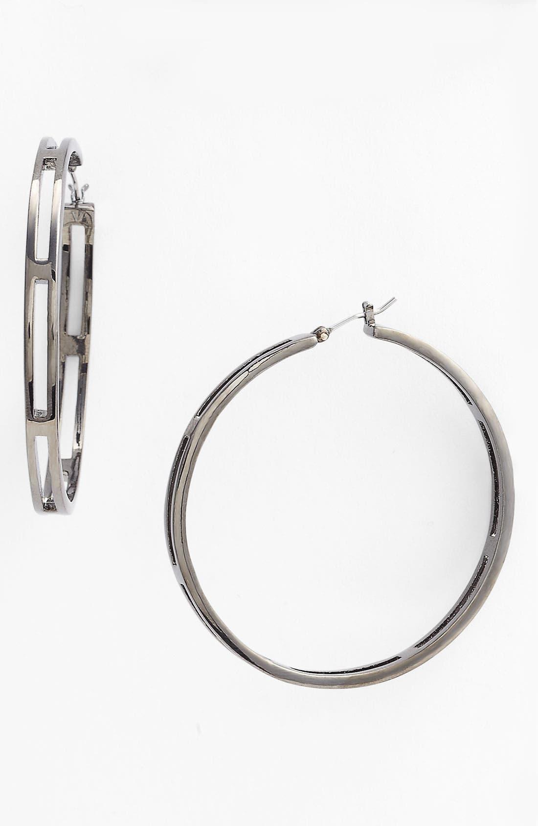 Main Image - Vince Camuto 'Basics' Cutout Hoop Earrings