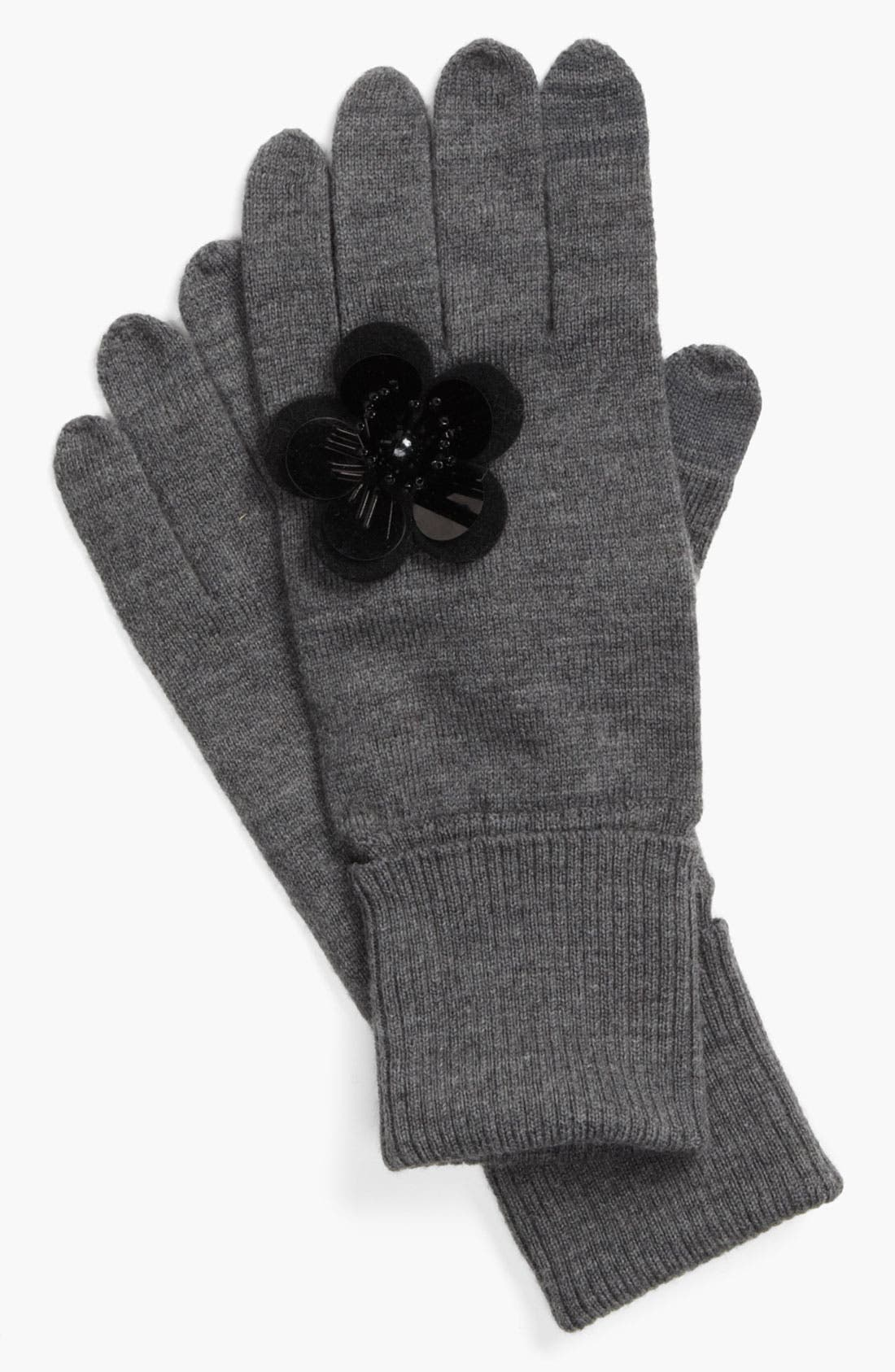 Main Image - kate spade new york 'magnolia' knit tech glove