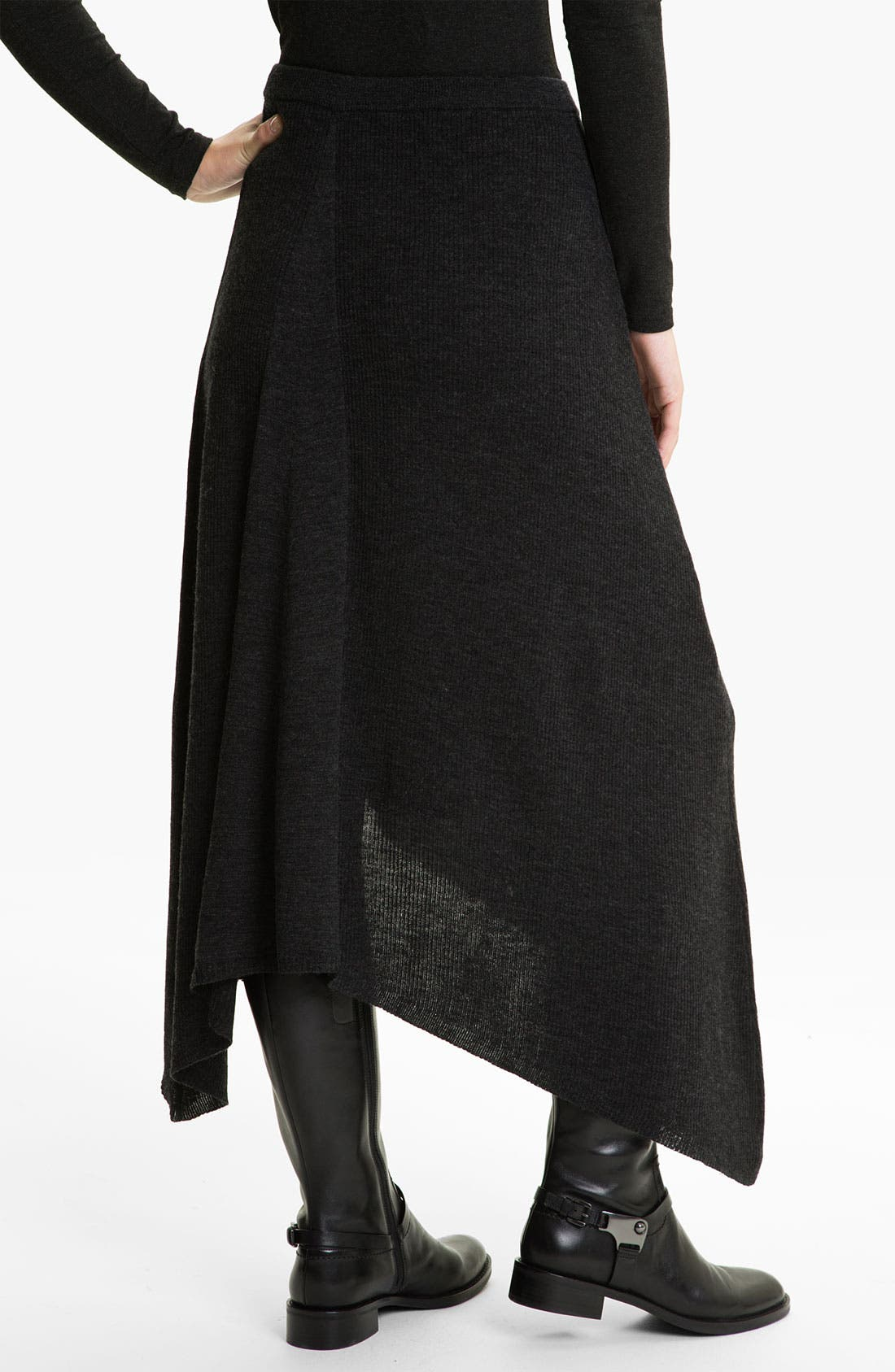Alternate Image 2  - Eileen Fisher Merino Jersey Rib Knit Skirt