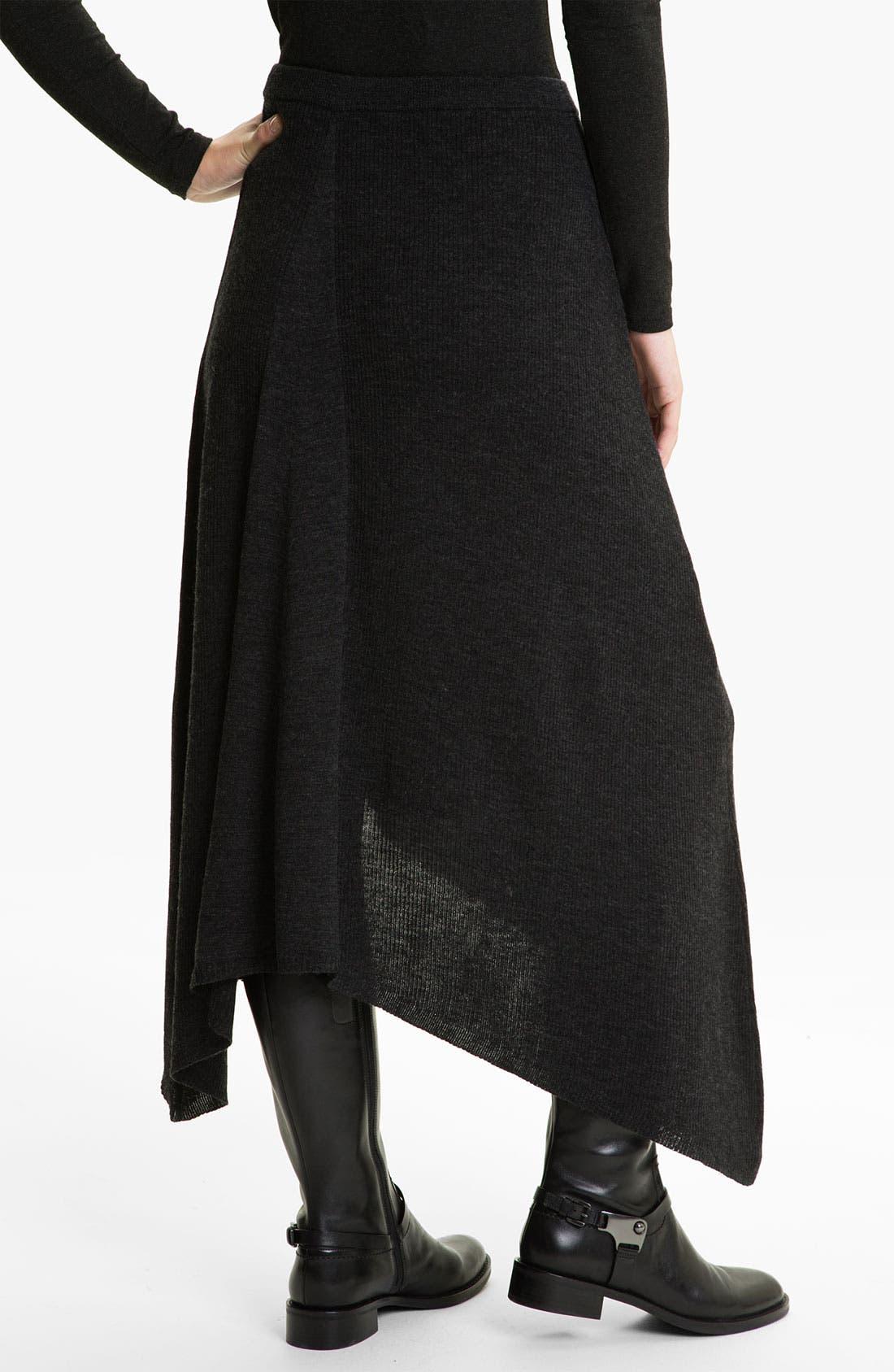 Alternate Image 2  - Eileen Fisher Merino Jersey Rib Knit Skirt