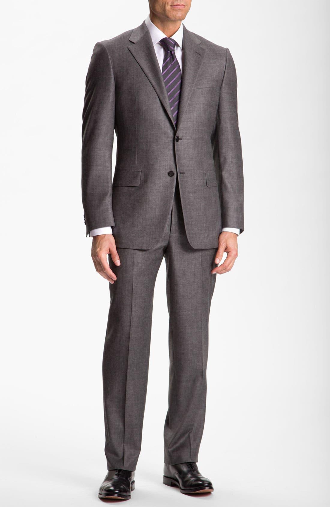 Alternate Image 2  - Hickey Freeman Solid Wool Suit