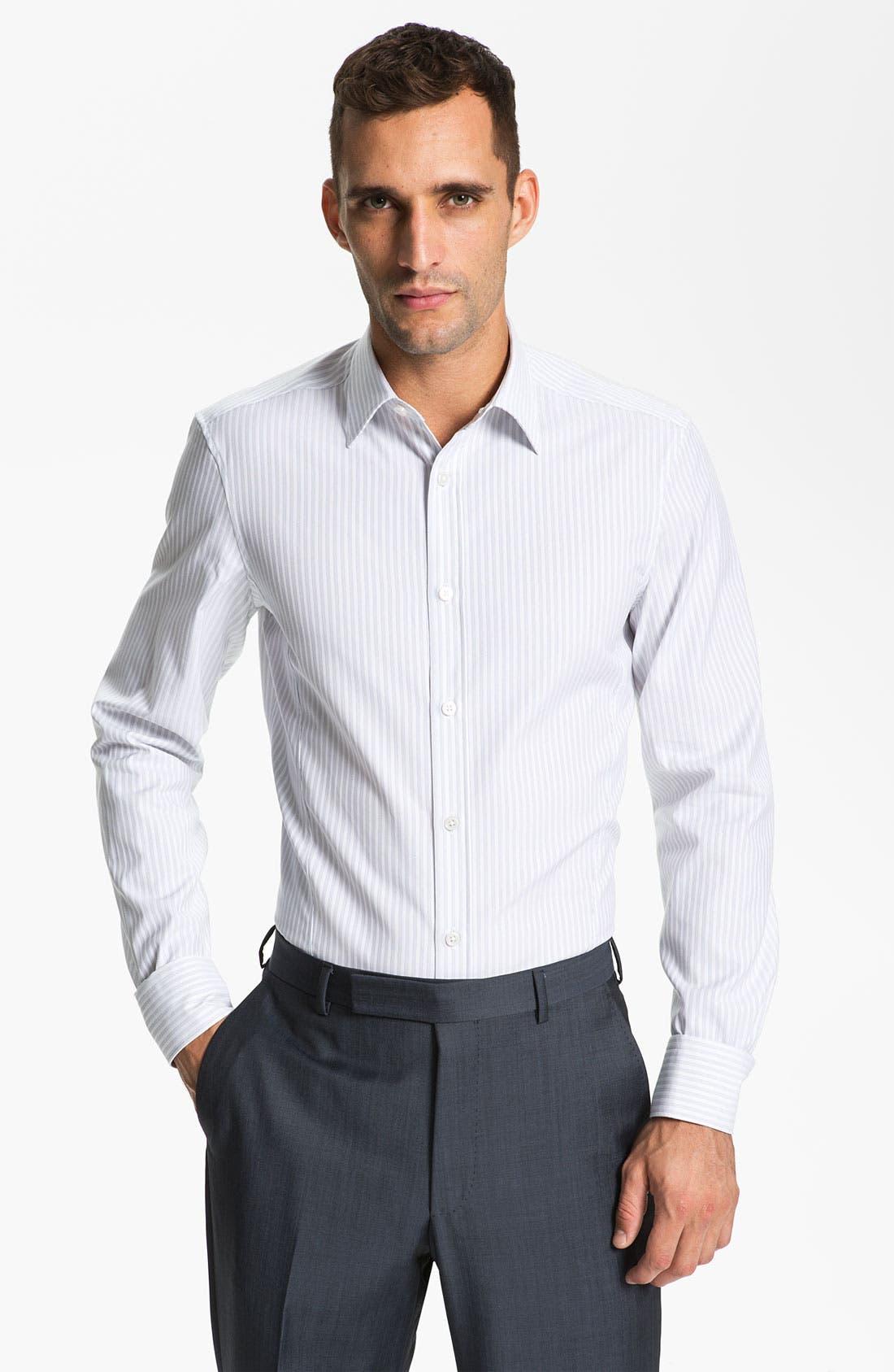 Main Image - Z Zegna Trim Fit Dress Shirt